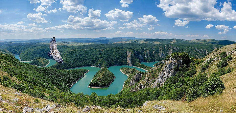 塞尔维亚Uvac峡谷