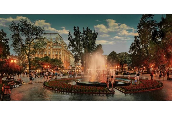 乌克兰敖德萨夜景