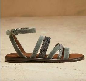 Brunello Cucinelli罗马复古细带凉鞋