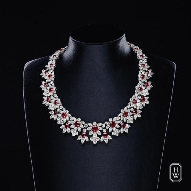 Incredibles红宝石钻石项链