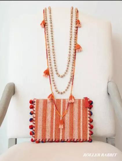 Roller Rabbit橘色连衣裙套装
