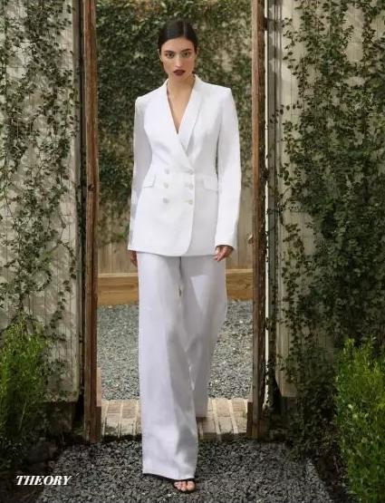 Theory白色西装套装