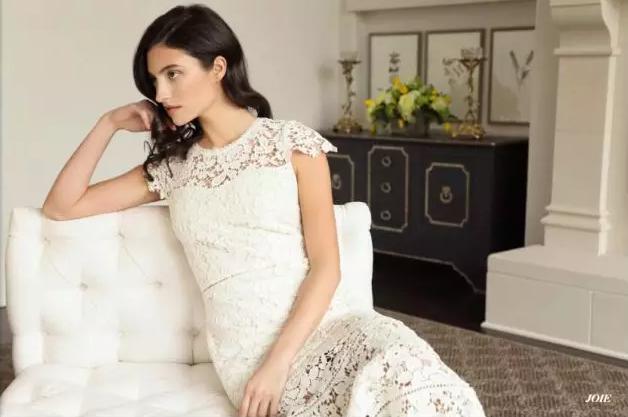 Joie白色镂空连衣裙