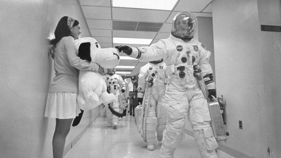 美国航天局吉祥物史努比与阿波罗10号宇航员
