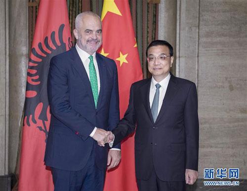 Li Keqiang Meets with Albania Prime Minister Edi Rama