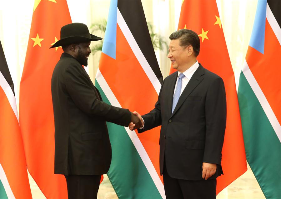 Chinese President Xi meets South Sudanese President