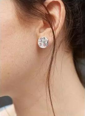 Chloe平片纯银耳钉