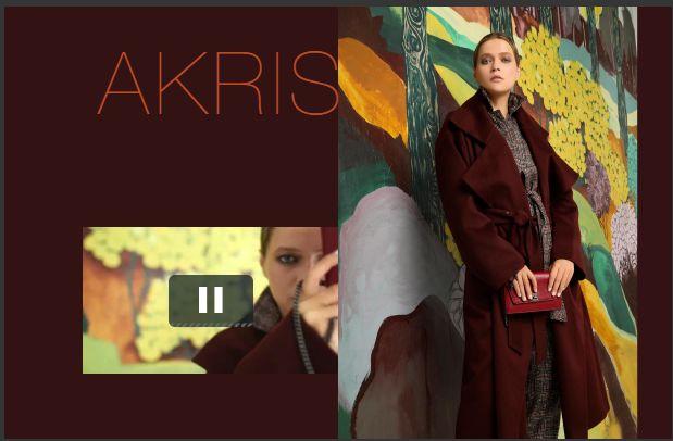 Akris 酒红长款风衣
