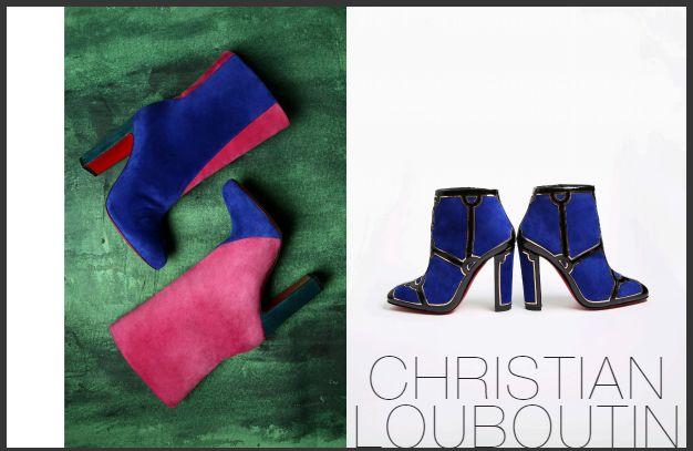 Christian Louboutin粗跟靴