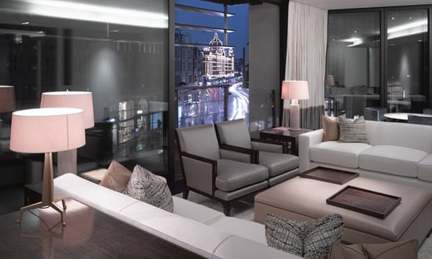 The interior of one of the luxury flats at One Hyde Park