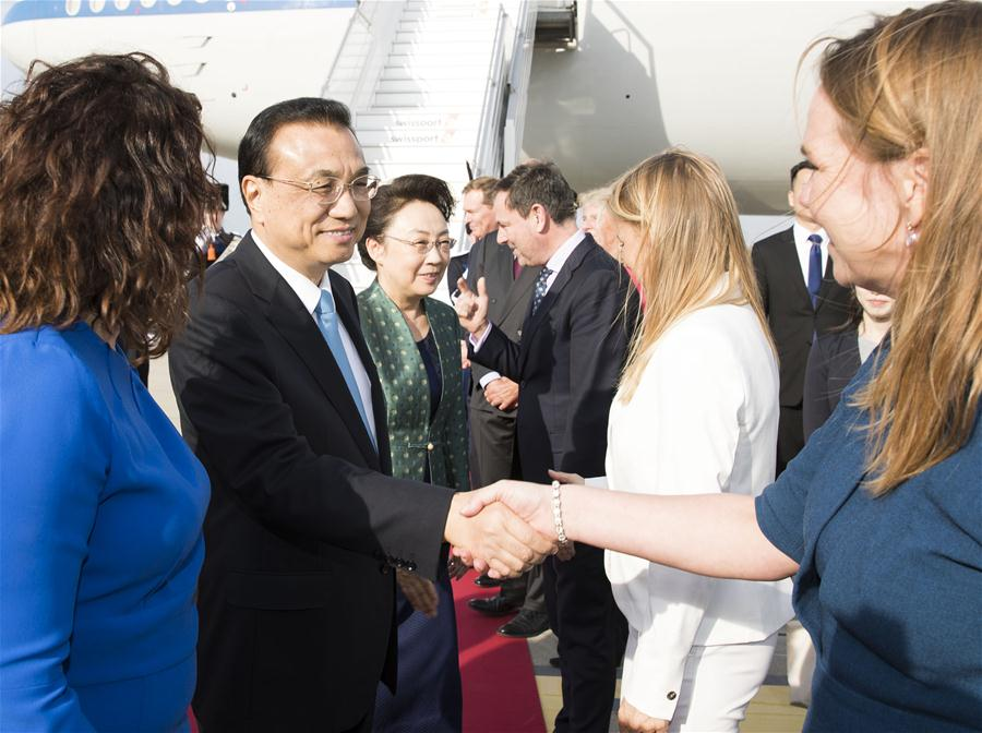 Chinese Premier arrives in Netherlands for official visit