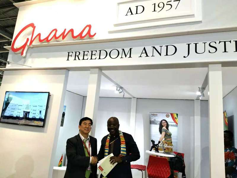 Dr. Wu took an interview with Chief Executive Officer of the Ghana Tourism Authority, Mr. Akwasi Agyeman.
