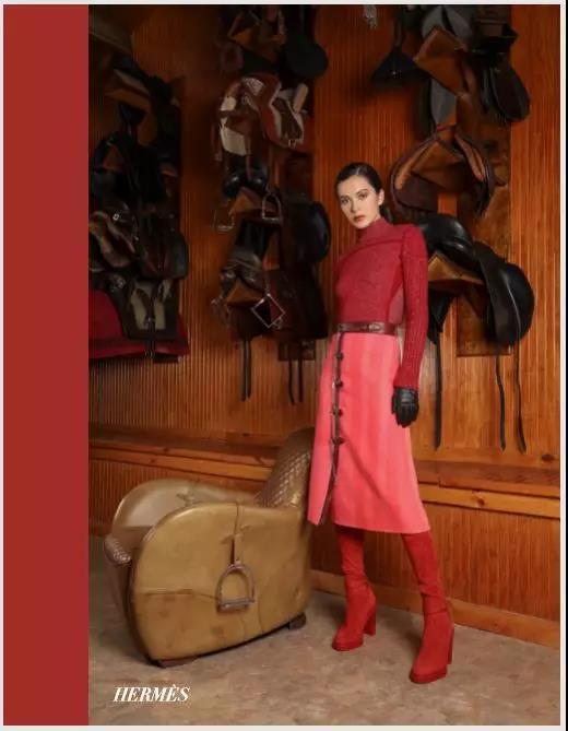 Hermès红色系套装