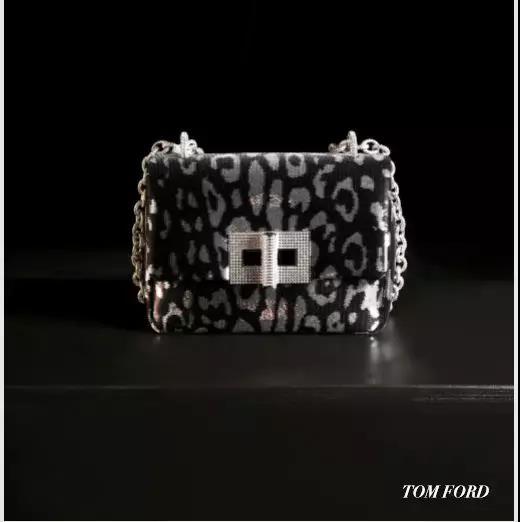 Tom Ford豹纹斜挎包