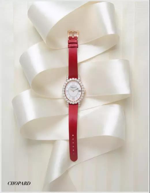Chopard红色钻石腕表