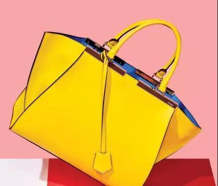 Fendi 2Jours 系列黄色手袋