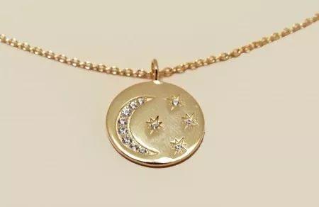 圆形星月项链