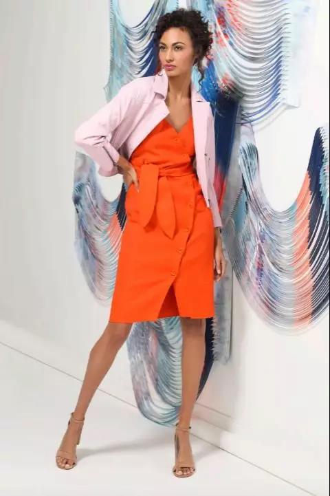Joie 橙色连衣裙套装