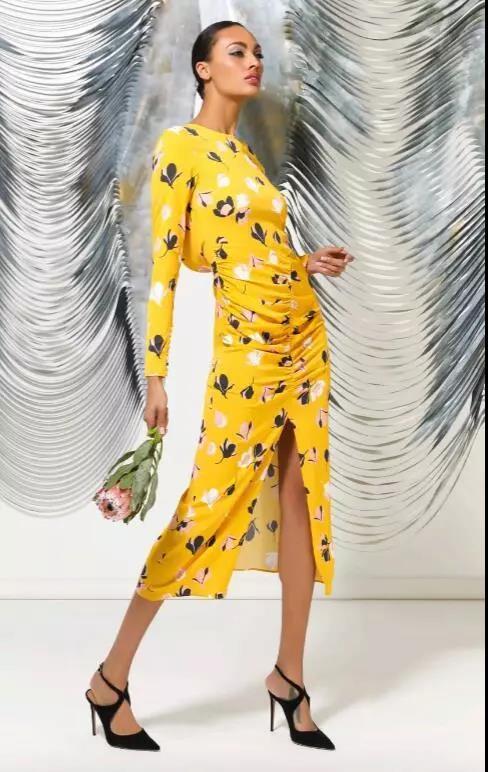 Intermix黄色长裙