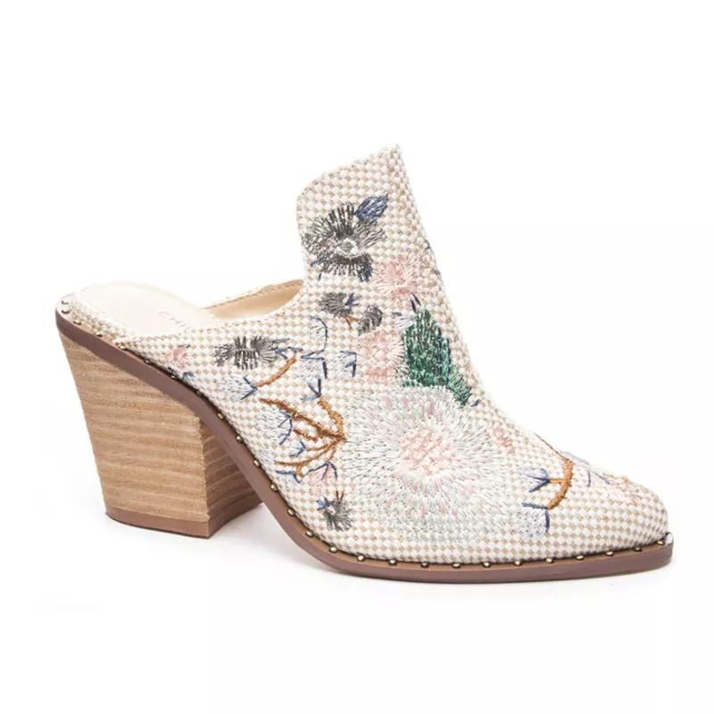中国风半包高跟靴