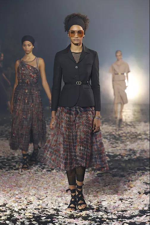 Dior纯棉珠罗纱半身裙