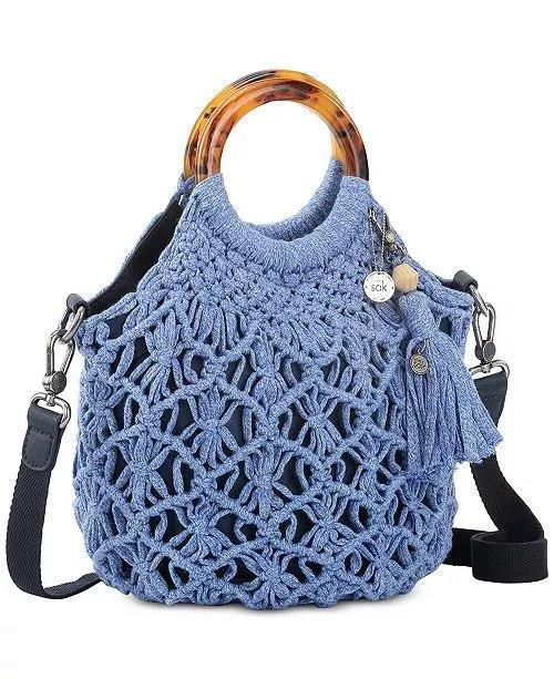 The Sak Helena Crochet  Circle Handle Crossbody