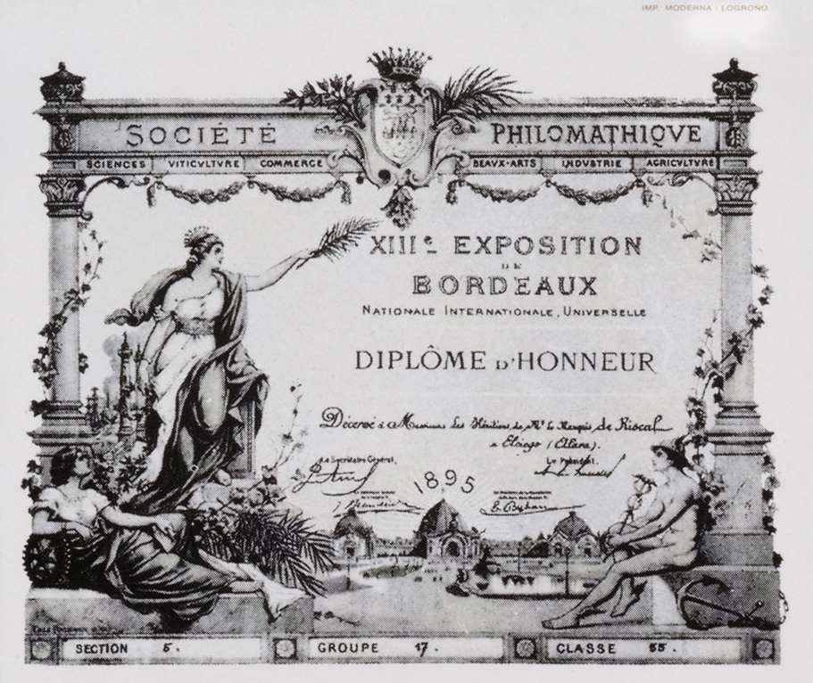 波尔多展览会荣誉奖