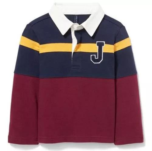 Colorblocked Patch Rugby Shirt