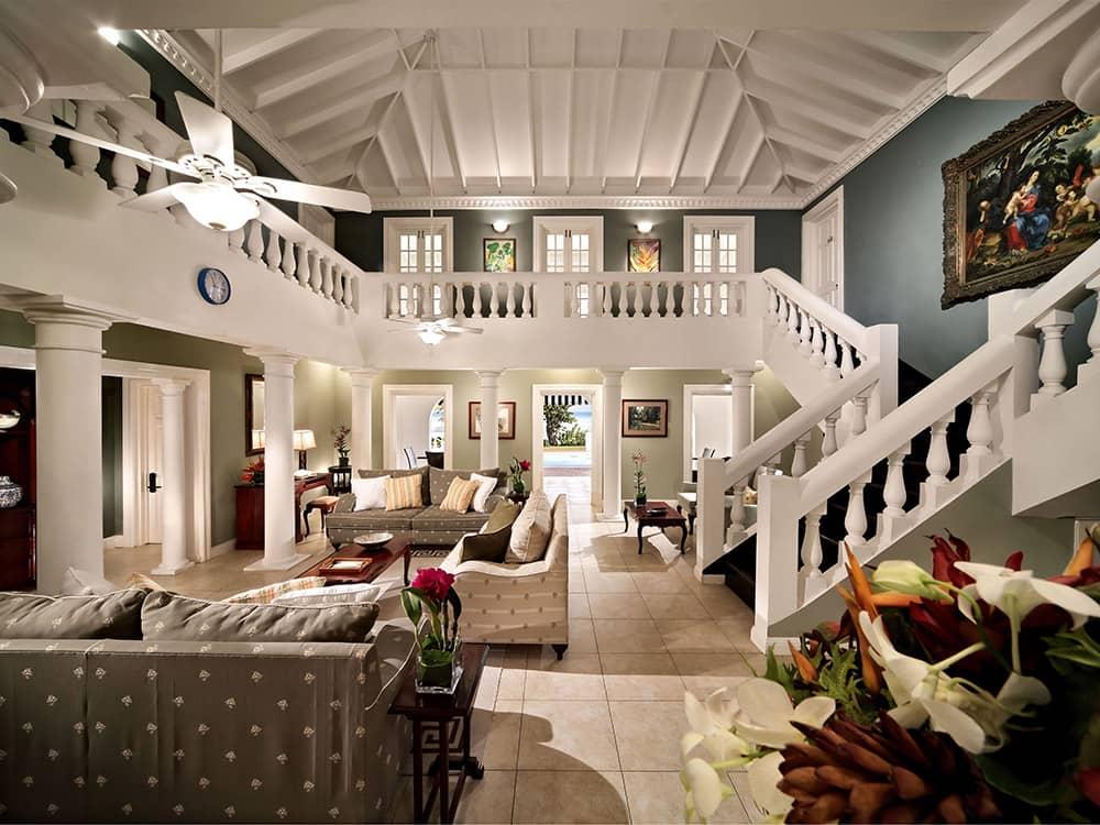 加勒比牙买加蒙特哥贝玫瑰厅别墅客厅