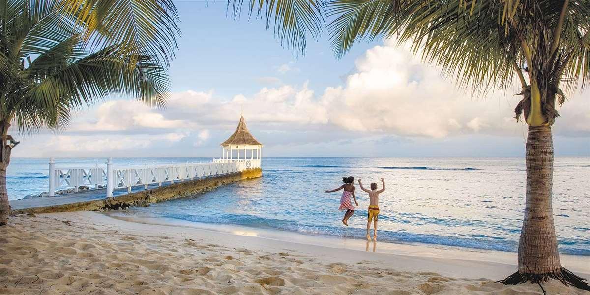 加勒比牙买加蒙特哥贝玫瑰厅别墅海滩