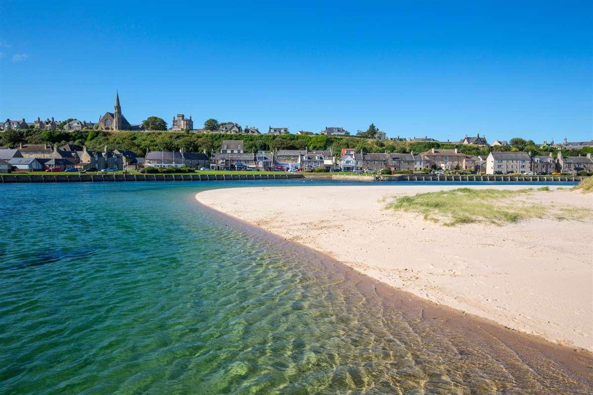 英国苏格兰洛西茅斯海滩