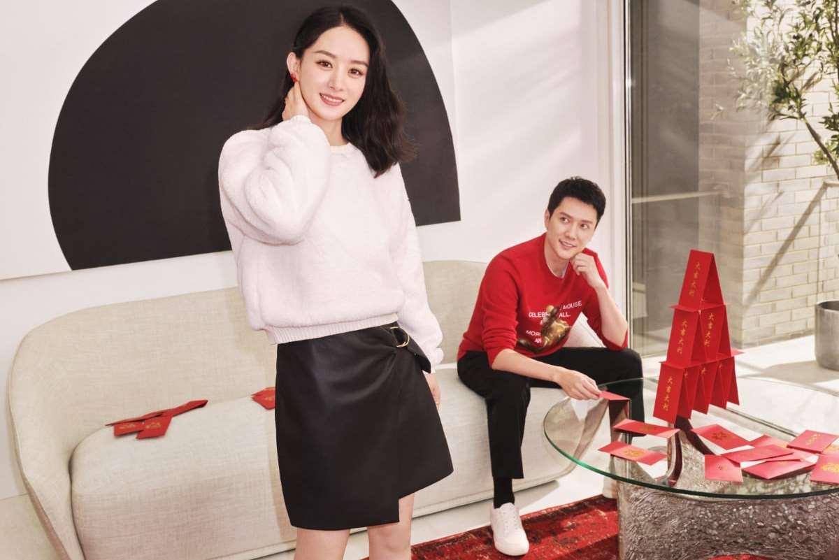 H&M代言人赵丽颖冯绍峰
