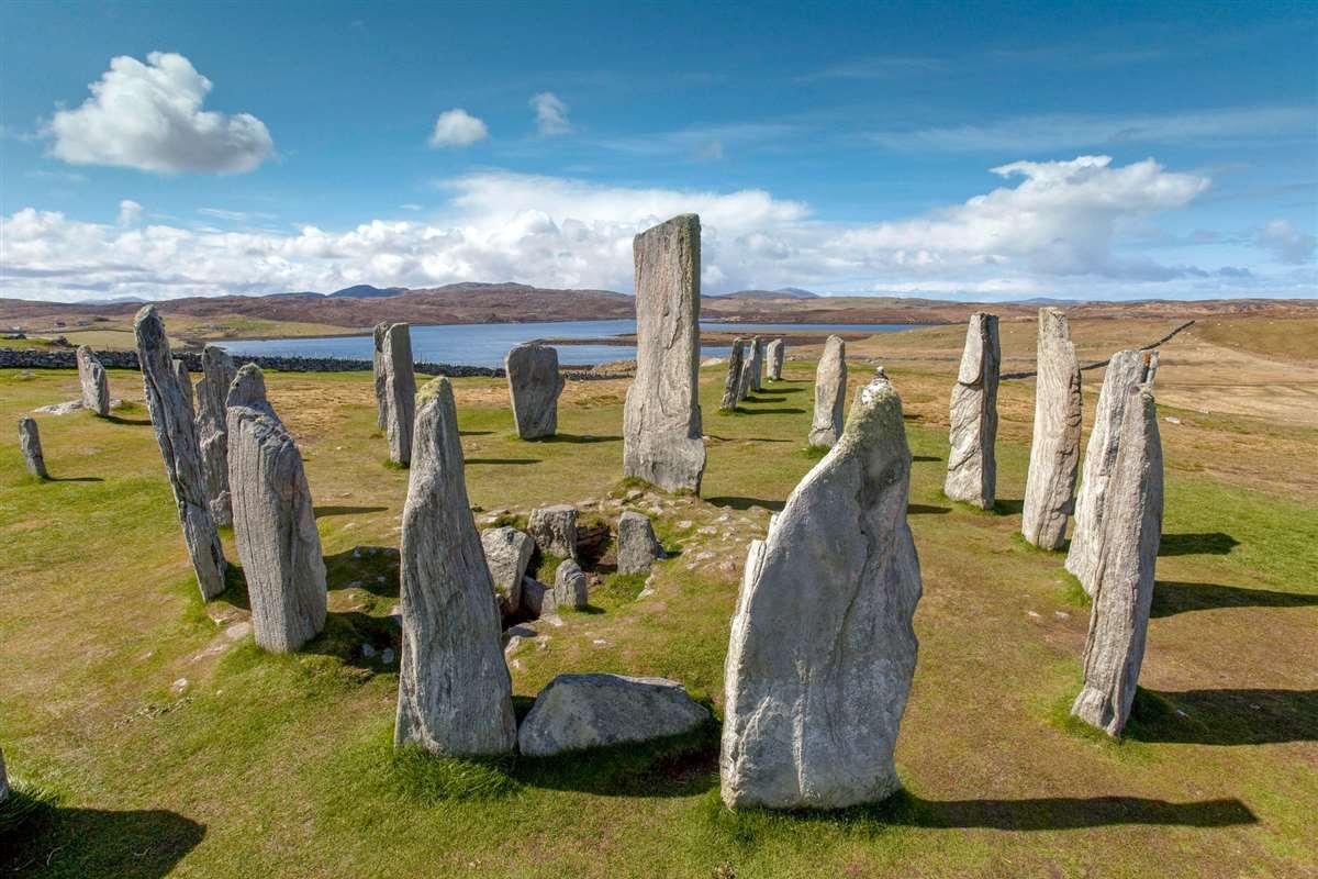 英国苏格兰刘易斯岛卡拉纳斯立石