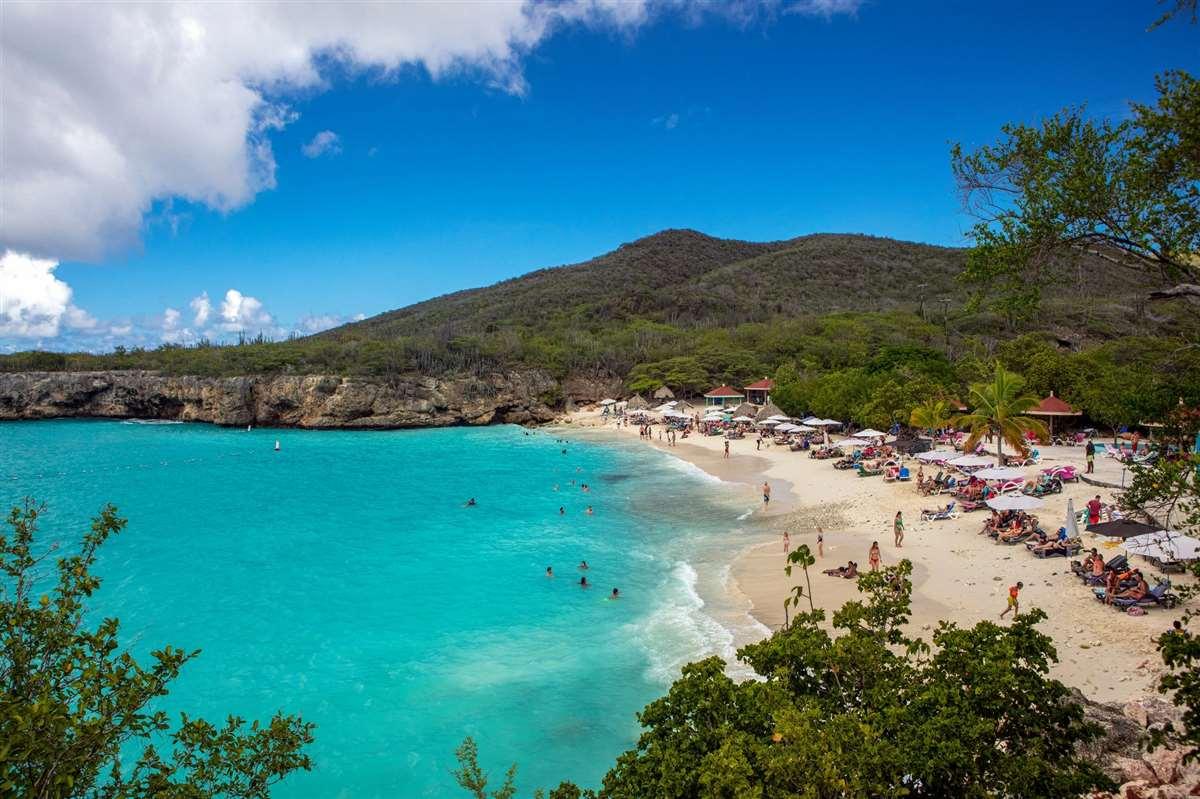 加勒比库拉索Grote Knip海滩