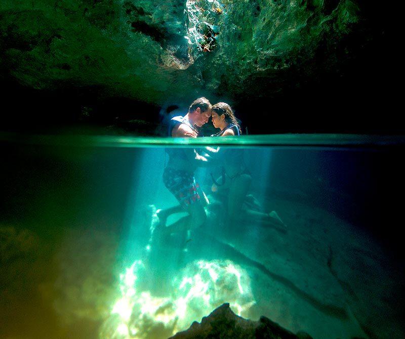 墨西哥坎昆谢哈公园洞潜