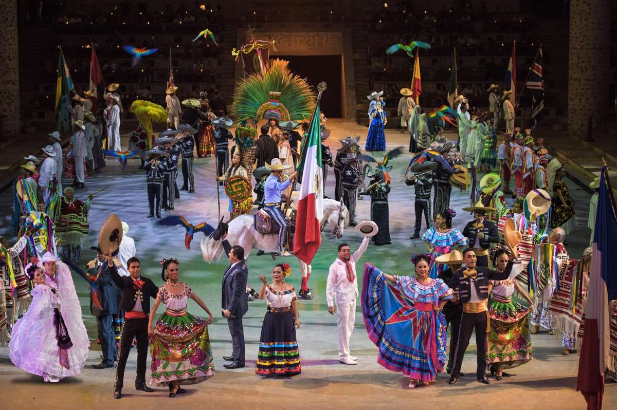 墨西哥坎昆西卡莱特公园Xcaret México Espectacular