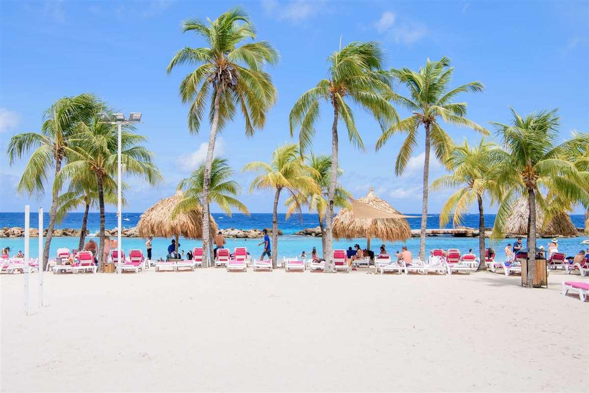 加勒比库拉索岛海洋水族馆曼波海滩