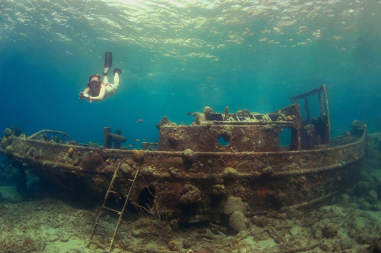 加勒比海库拉索岛沉船潜水