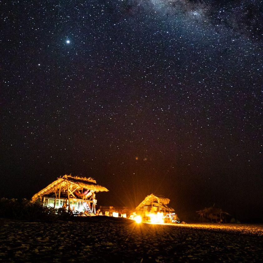 加勒比海小库拉索岛露营