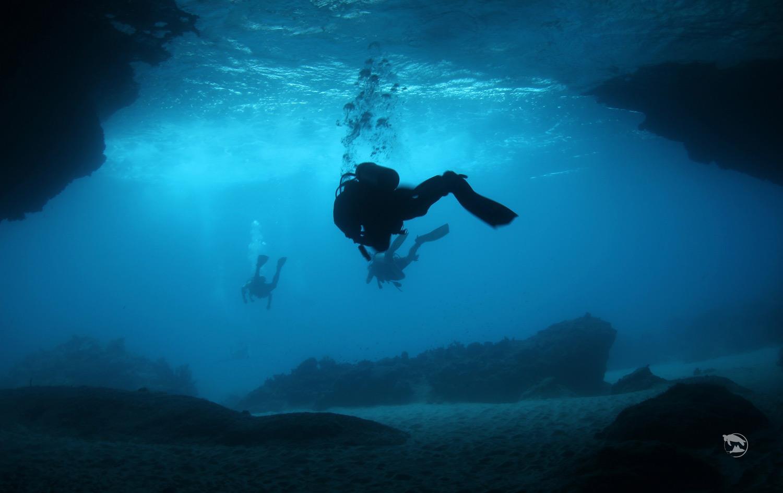 加勒比海库拉索岛洞穴潜水