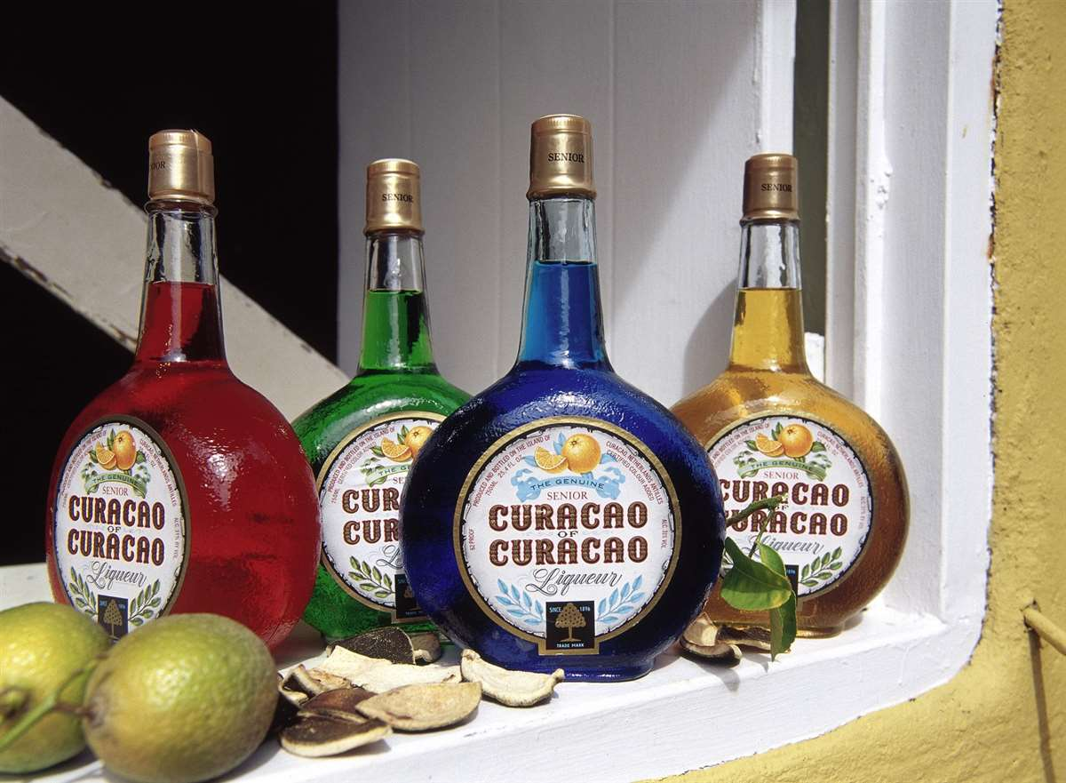 加勒比海库拉索利口酒