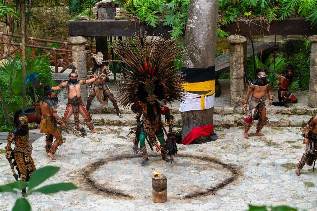 墨西哥坎昆Xcaret西卡莱特公园玛雅祭祀