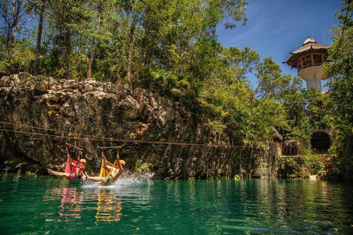 墨西哥坎昆Xplor西普洛公园吊床滑索