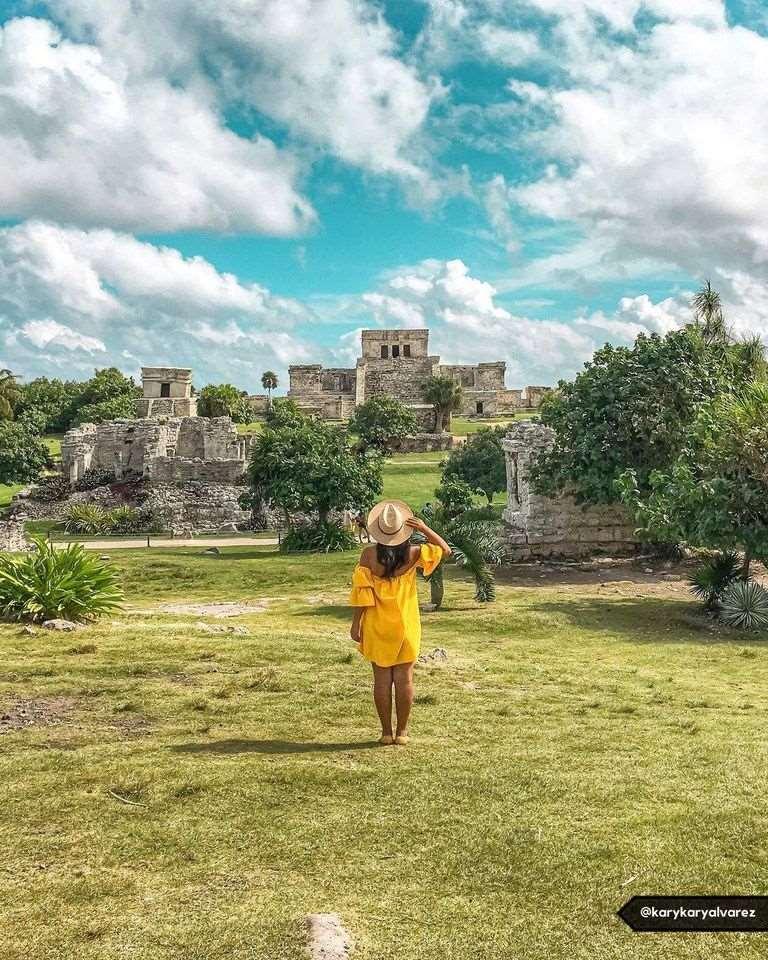 墨西哥坎昆玛雅遗迹Tulum图卢姆